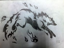 Wolf Element Fire-Tatoo by akshay1