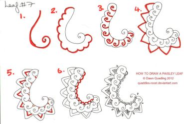 How to draw Paisley Leaf 07 by Quaddles-Roost
