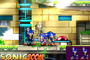 Sonic Boom Advance by parrishbroadnax
