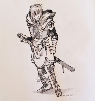 inks of an original character concept by HJeojeo