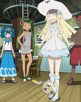 Lillie's still nervous to touch other Pokemon by WillDynamo55