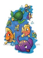 Fish T-Shirt by CarolineDoodles
