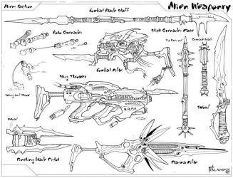 Alien Weaponry by Stormcrow135