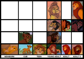 The Lion King Male Characters Age Progression by LupusAvani