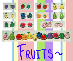 Fruit Keychains by OMGProductions