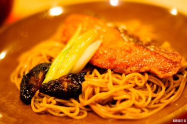 Grilled Salmon Teriyaki Soba by KuroDot