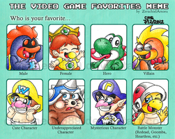 That Fave Video Game Characters Meme by cmdixon589
