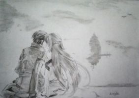 kirito and asuna from sword art online by Antyla08