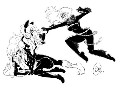 black cat spiderman coloring pages - photo#39