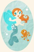 Turquoise mermaid by Caravaggia