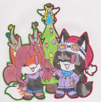 Christmas Chibi Babies by SassyMelvin
