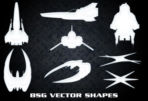 BSG Vector Ship Shapes by Retoucher07030