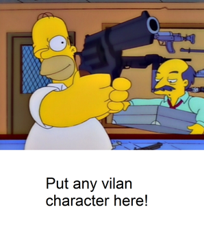 Homer is ready to fight a blank meme by Mroyer782