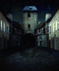 Abandoned medieval village by indigodeep