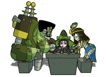 Fiona Frightening commission 2 - Battle of wits by DrCrafty