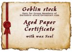 Aged Paper Certificate EXCL by GoblinStock