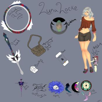 Luna Locke Reference Sheet (And Wylla ) by Heart-Wolfii
