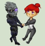 Shepard and Garrus Commission by Invaderbuggums