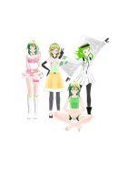 My Gumi models by KasaneTeto2