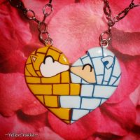 Pokemon Kanto and Alolan Sandshrew Heart Necklaces