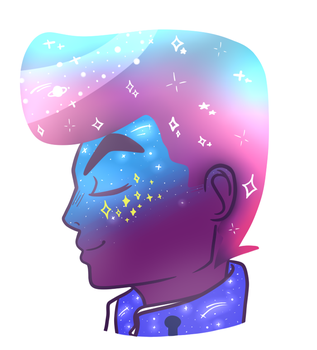 Josuke is a galaxy of purity by pastel-panta