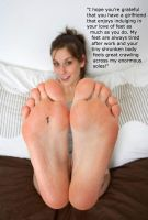 Serving Your Girlfriends Tired Soles by youranus32