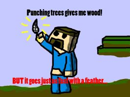 Minecraft - punching trees by lava1o