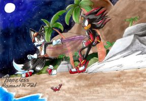 Contest: Shadow vs Dark Tails by hopelessromantic721