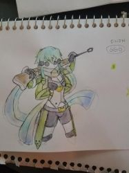 Sinon Water Color by JazCooper