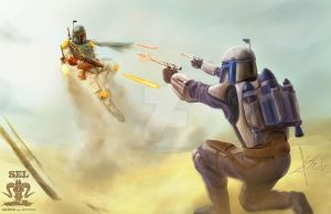 Boba Fett VS  Jango Fett by SEL-artworks