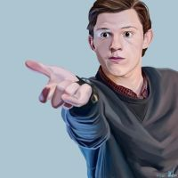 Peter Parker / Krita Painting by theclumsyandshy