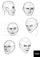 Heads Study by Saza-Productions