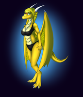 Tennager Dragoness by Tomek1000