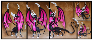 Corrupted Cynder Custom Plush by Nazegoreng