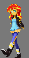Study - Sunset Shimmer (solo) - 10 July 2015 by nonecansee