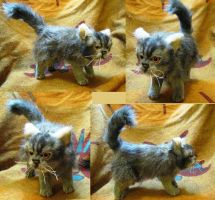 Persian Kitten Realistic Plush Toy by Jarahamee