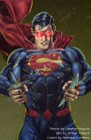 Rage of Kal-El (colors) by FantasticMystery
