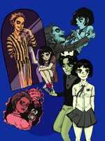 Beetlejuice, Lydia, Vince and Claire by alganiq