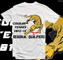 Cougar Tennis Tshirt Design by alexsalinasiii