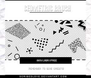 +Geometric Brush|FREE by ScribedLove