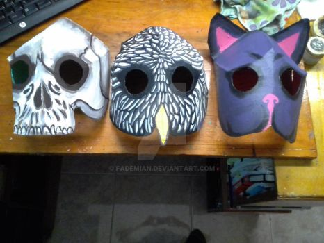Halloween masks by FaDemian