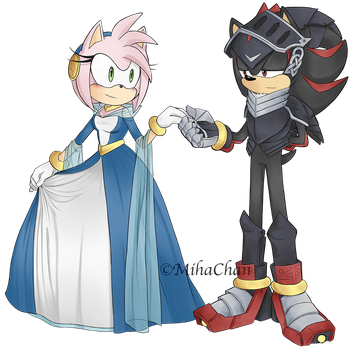 Lady Nimue and Sir Lancelot by MihaChan88