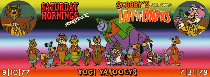 SATURDAY MORNINGS FOREVER: LAFF-A-LYMPICS YOGIS by WOLVERINE25TH