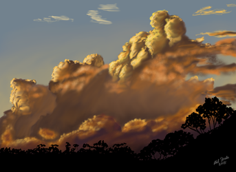 Clouds at Sunset by oldlofty