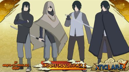 Naruto - Sasuke Uchiha (Adult) PACK 1 FOR XPS!! by MVegeta