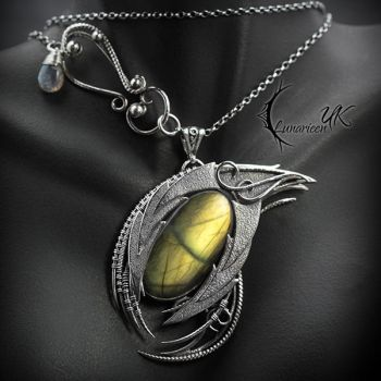 MZHADIRL DRACO - Silver and Labradorite. by LUNARIEEN