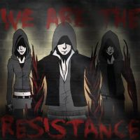 'We are the resistance' Prototype Graffiti by BlacklightArtist02