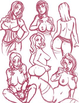 Unclad Doodles 6 by hooksnfangs