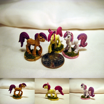 Table-Top Minis: The Cutie Mark Crusaders (CMC) by NPCtendo