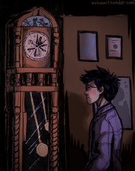 day 14 - clock by turtletrashworld
